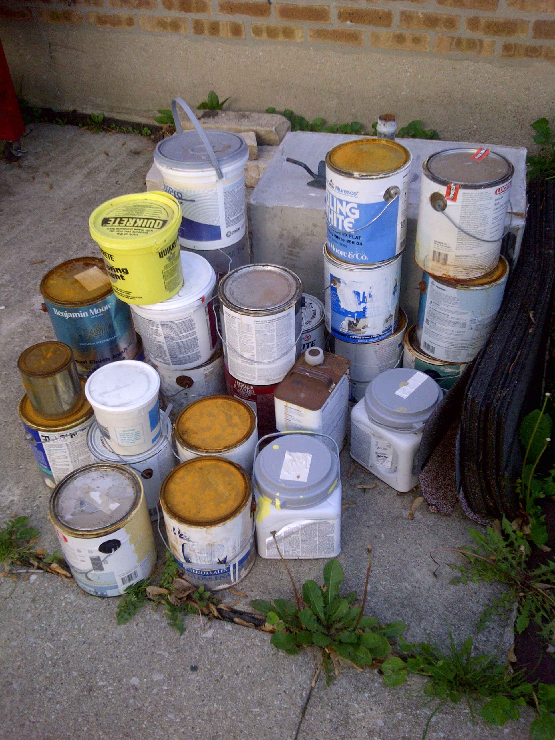 Helpful hints grandmother musings for How to dispose of empty paint cans