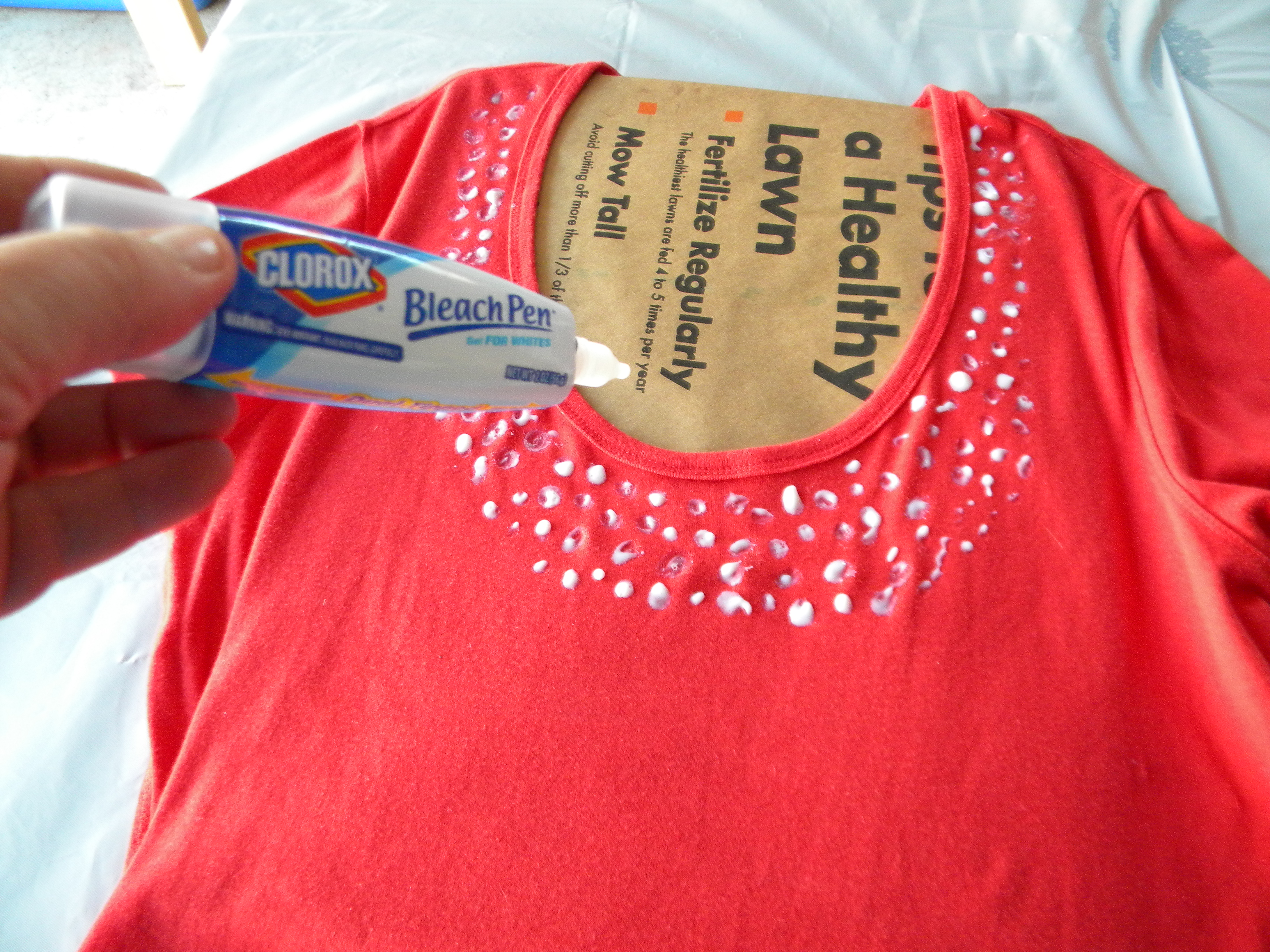 Bleach pen t shirt grandmother musings for How to bleach designs into shirts